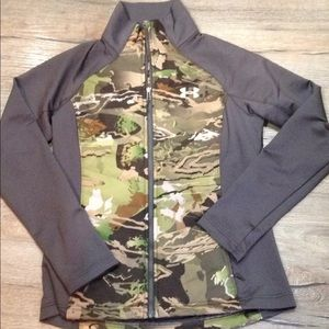 new women under armour prima loft jacket M camo